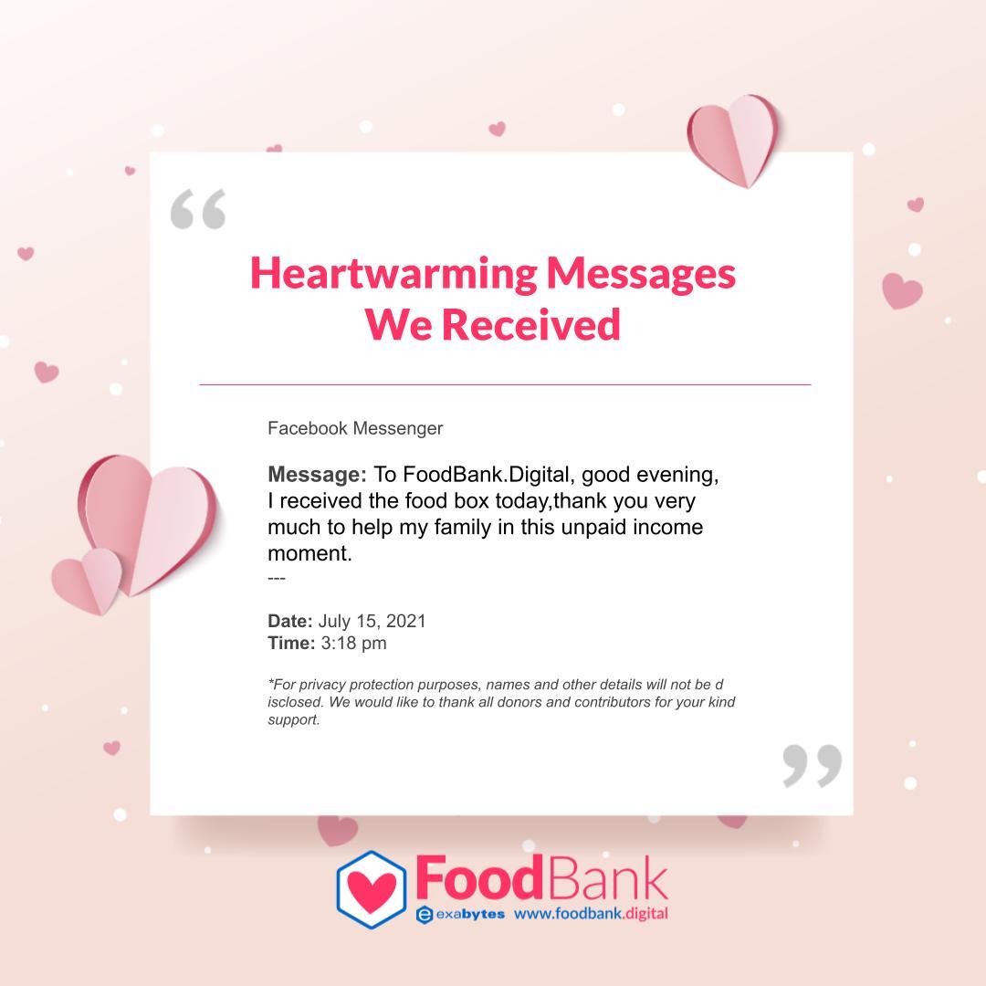 Warm Messages to FoodBank.Diggital